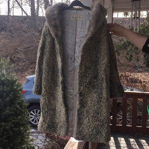 Jackets & Blazers - Genuine PERSIAN LAMB fur coat damaged handmade